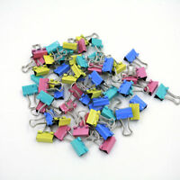 60x Metal Binder Clips for File Paper  Notebook Organizer School Office Supply
