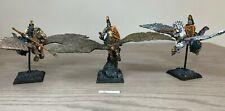 Warhammer - Bretonnia - Pegasus Knights x 3 - Painted - Fireforge Miniatures