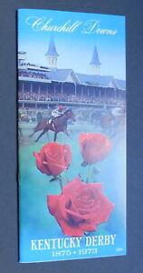 1973 KENTUCKY DERBY Program - SECRETARIAT - NINTH TRIPLE CROWN Winner - Mint