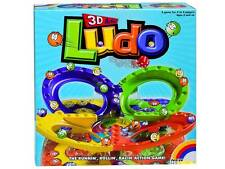 3D ACTION LUDO GAME BOARD TRAVEL FAMILY NOVELTY TOY KIDS BRAIN MIND HOBBY PARTY