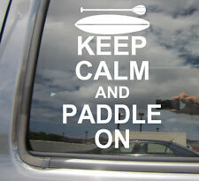 Keep Calm And Paddle On Stand Up Paddle Board SUP Car Vinyl Decal Sticker 03009
