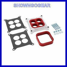 "s PERFORMANCE 2 IN 1 PHENOLIC CARBY SPACER ADAPTER PLATE 1"" HOLLEY EDELBROCK AFB"