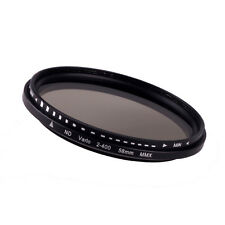 58mm Fader Variable ND Filter Adjustable ND2 to ND400 Neutral Density Elegant