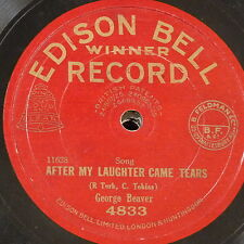 78rpm GEORGE BEAVER after my laughter came tears / together