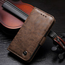 Vintage Leather Phone Case Magnetic Flip Card Holder Wallet Cover For iPhone  AU