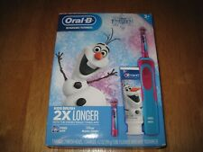 Oral-B Kids Frozen Rechargeable Electric Toothbrush+Toothpaste, New, Disney Elsa