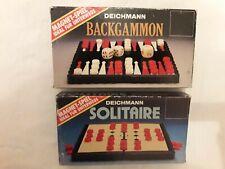Retro SOLITAIRE + BACKGAMMON Magnetspiele Deichmann 30 Jahre alt unbespielt