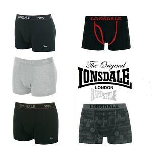Lonsdale London Boxershorts Herren Schwarz Navi Grau Limited Edition Boxing