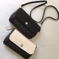 AUTHENTIC COACH SIGNATURE REVERSIBLE CROSS-BODy BLK/WHITE F59534 NWT $275 2 IN 1