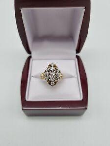 585 Gelbgold Ring Diamanten/Brillanten 1,0ct Art Deco