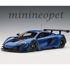 AUTOart 81641 MCLAREN 650S GT3 1/18 MODEL CAR AZURE BLUE with BLACK ACCENTS