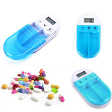 Electronic Medicine Pill Timing Reminder Medical Box Alarm Clock Pill Container