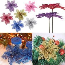PW_ 6'' Hollow Wedding Decor Christmas Flowers Xmas Tree Decorations Poinsetti