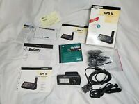 Garmin GPS V Personal Navigator - w/ Box Accessories & Instructions BARELY USED
