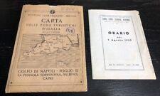 Vintage Touring Club Italiano Carta D' Italia Sorrento Peninsula Capri 1950s