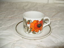 J & G Meakin Earthenware Pottery Cups & Saucers