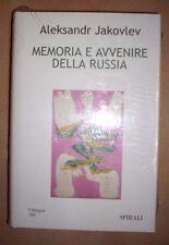 ALENSANDR JAKOVLEV - MEMORIA E AVVENIRE DELLA RUSSIA - 2002 SPIRALI (DF)