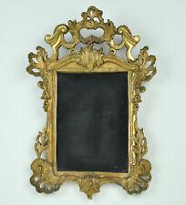 Spiegelrahmen Lindenholz 18./19. Jh., 22 x 33 cm, komplett geschnitzt bronziert