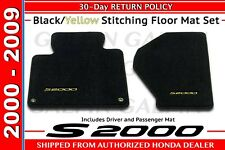 Genuine OEM Honda S2000 CR Black / Yellow Carpeted Floor Mats (83600-S2A-A01ZE)