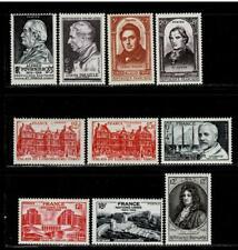 France: années 1947-1948 à 1949 ,10 timbres neufs **