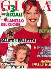 GIOIA N. 15 11 APRILE 1983 MODA ITALIAN FASHION MAGAZINE LIV ULLMANN AMANDA LEAR