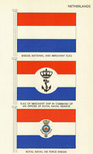 NETHERLANDS FLAGS. Ensign National Merchant Royal Naval Reserve Air Force 1964