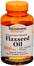 Sundown Naturals Flaxseed Oil 1000 mg Softgels 100 Soft