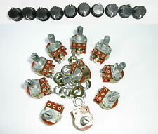 10x SPST Switched A100K Log Potentiometer Inc. Knobs.Power/Volume Audio AU STOCK