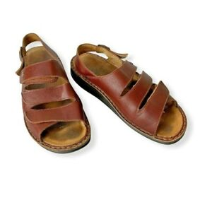 Finn Comfort Brown Nappa Leather Soft Footbed Hand Made in Germany Women US9-9.5