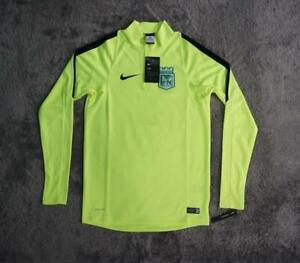 Men's Nike Atletico Nacional Squad Drill Training Top Neon Volt size SMALL