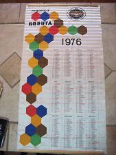 Vintage Rare 1976 Polish Football Club Boruta Zgierz Fabric Pull Out Calendar