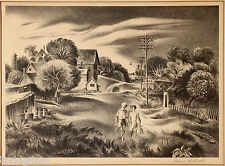 Aaron Bohrod (1907-1992) Listed Chicago Artist P/S Lithograph 1945 ~16.75x20.75