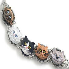 Sweet Romance Cat Lovers Bracelet ~Hand-painted & Made in Los Angeles California