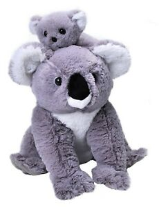 KOALA MOM & BABY SOFT TEDDY BEAR TOY WILD REPUBLIC PLUSH 30cm CUDDLY KIDS NEW