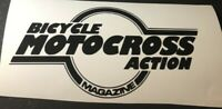 BMX ACTION  decal sticker Racing BICYCLE MOTOCROSS Old School 80's Redline GT