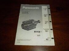 PANASONIC NV-S77B RARE ORIGINAL UK INSTRUCTION MANUAL BOOK INSTRUCTIONS S77 VHSC