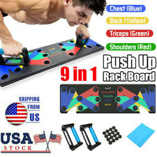 New listing 9 in 1 Push Up Rack Board Gym Exercise Muscle Training Stands Fitness Equipments