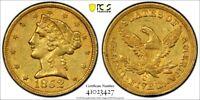 "1852-C Charlotte $5 * PCGS AU50 "" CAC "" GOLD Shield "" LIBERTY Head Half EAGLE !!"