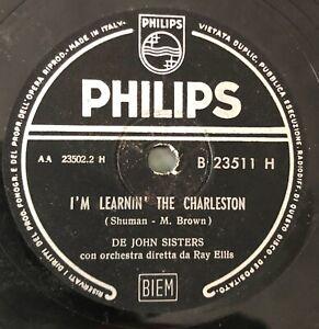"RARE 10"" 78RPM DE JOHN SISTERS I'M LEARNIN' THE CHARLESTON / HOTTA CHOCOLOTTA"