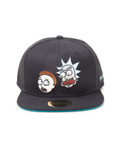 OFFICIAL RICK AND MORTY - CHARACTER FACES BLACK SNAPBACK CAP (NEW)