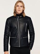 Zara Mens  Double sided Biker Jacket Size Extra-Large