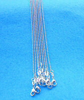 Wholesale 10PCS Fashion jewelry 925 Sterling Silver Plated Beads Necklaces Chain