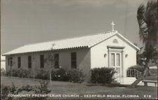Deerfield Beach FL Church Real Photo Postcard
