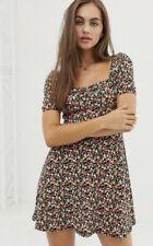 Pull & Bear Square Neck Ditsy Floral Dress - Size L - Great Condition