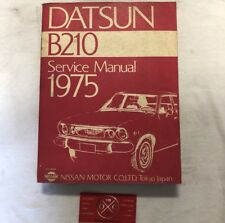1975 Datsun B210 OEM Service Manual Rare Nissan Sunny Hatch Sedan 73 74 76 77