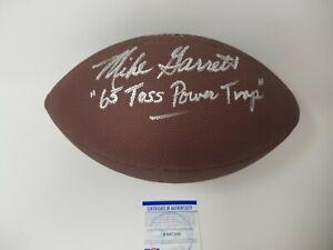 Mike Garrett Kansas City Chiefs Signed Football w/65 Toss Power Trap - PSA ITP