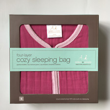 NEW Personalised Aden + Anais Cozy Baby Sleeping Bag Orchid Angel Cotton Muslin