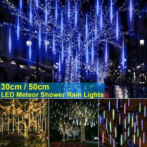 Christmas LED Lights Meteor Shower Rain Lights Snowfall Icicle Garden Waterproof