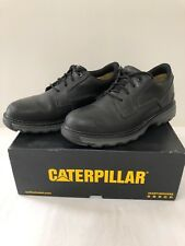 Caterpillar CAT Men Size 9 Tyndall P74094 Black Work Shoes Soft Toe C1