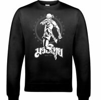 Muay Thai Skeleton Kick Boxer Mens Martial Arts Sweatshirt MMA Top UFC Skull